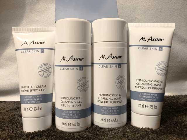 m asam clear skin set test speziell f r mischhaut und. Black Bedroom Furniture Sets. Home Design Ideas