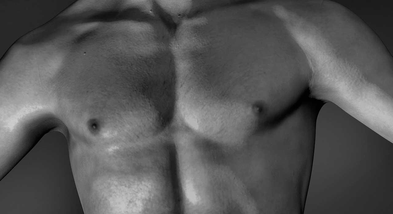 Pickel auf der Brust
