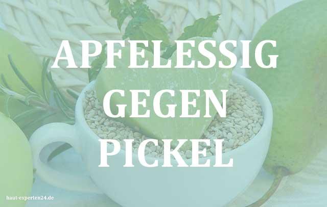 Apfelessig gegen Pickel und Pustel