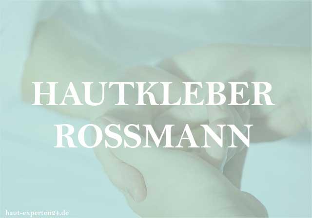 Hautkleber Rossmann - Klebstoff von Mastix auf der Haut.