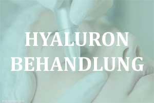 Hyaluron Behandlung - Therapie und Injektion mit Hyaluronsäure.
