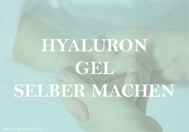 Hyaluron Gel selber machen - Hyaluronsäure Gel auf die Haut geben.