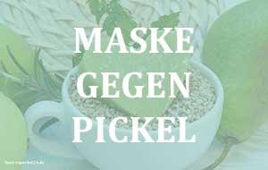 Maske gegen Pickel auf der Haut