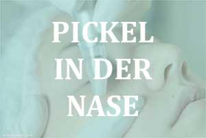 Pustel und Pickel in der Nase durch Bakterien?
